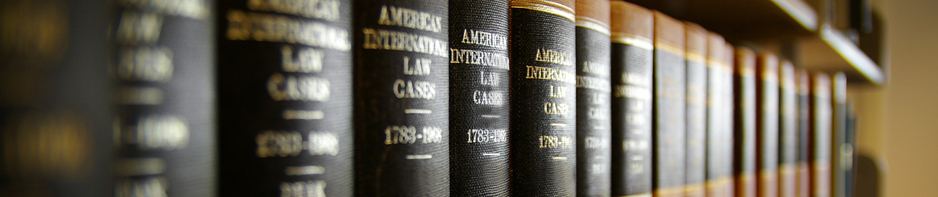 Bookshelf of law books